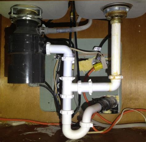 under sink waste disposal garbage disposal layout does this look right