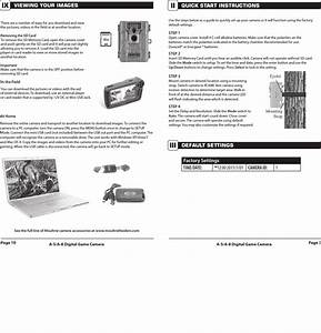 Moultrie A 5 Instructions Manual 1002836