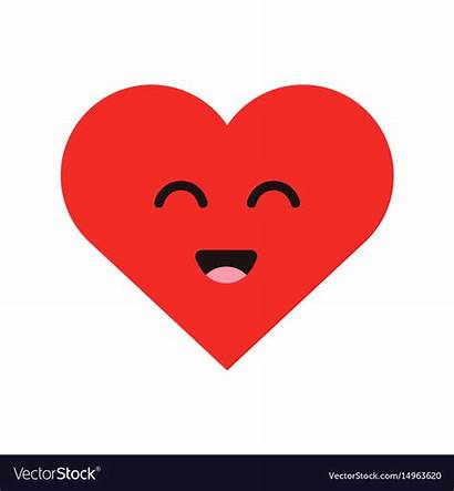 Heart Emoji Cartoon Happy Face Smiling Vector