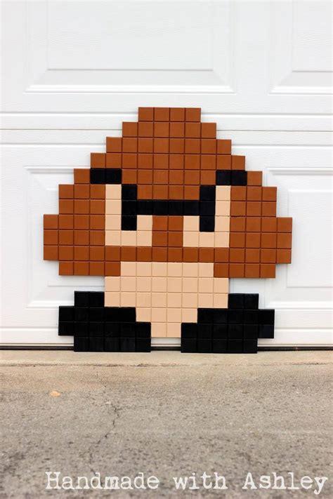 super mario bros  bit goomba pixel art diy tutorial