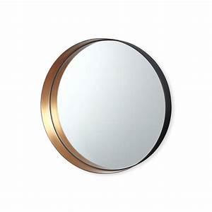 Miroir Rond Cuivre : miroir rond en m tal couleur cuivre bruno evrard ~ Edinachiropracticcenter.com Idées de Décoration