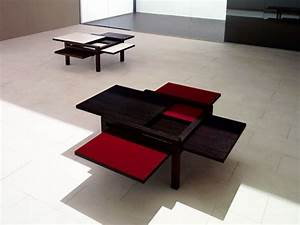 Cool expandable coffee and dining tables by sculrtures for Awesome expandable coffee table