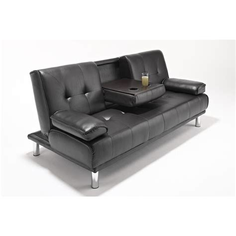 seat faux leather tufted westminster futon sofa bed