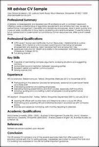 resume personal and professional skills development hr advisor cv sle myperfectcv