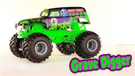 grave digger monster truck youtube grave digger monster jam monster truck toy for kids
