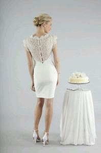 nicole miller short pencil skirt wedding dress ci0124 With pencil dress for wedding