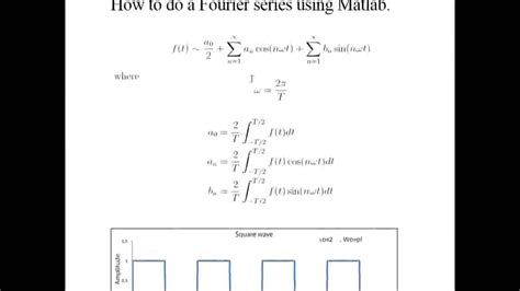 How To Find Fourier Series In Matlab Youtube