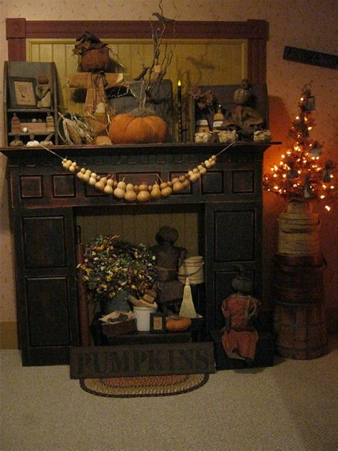 Primitive Decorating Ideas For Fireplace by Deppenhomestead1862 Fall Mantle The Gourds Could