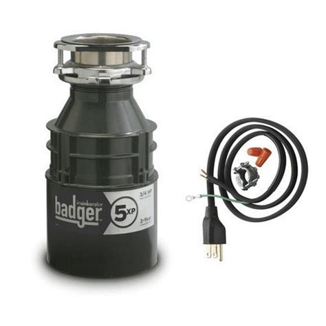 badger sink disposal clogged insinkerator badger5xpcord household garbage disposer with