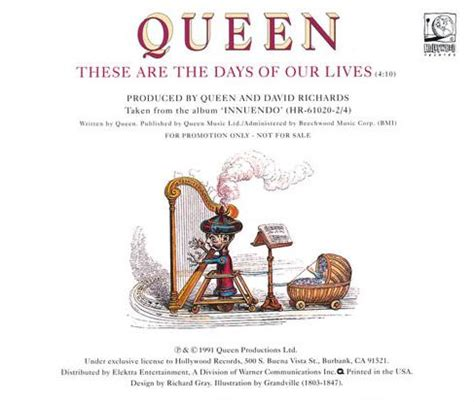 """Queen """"these Are The Days Of Our Lives"""" Single Gallery"""