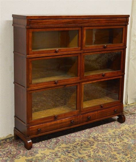Mahogany Barrister Bookcase by Antique Mahogany Sectional Barrister Bookcase