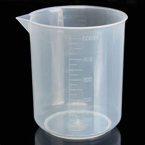 chimie cuisine bécher tasse à mesurer plastique graduée volumétrique pour
