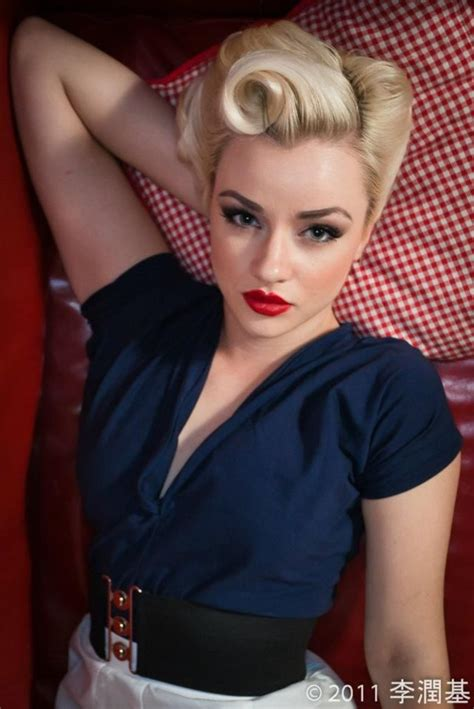 Glamorous 50s Hairstyles by 50s Hair And Makeup Hair And