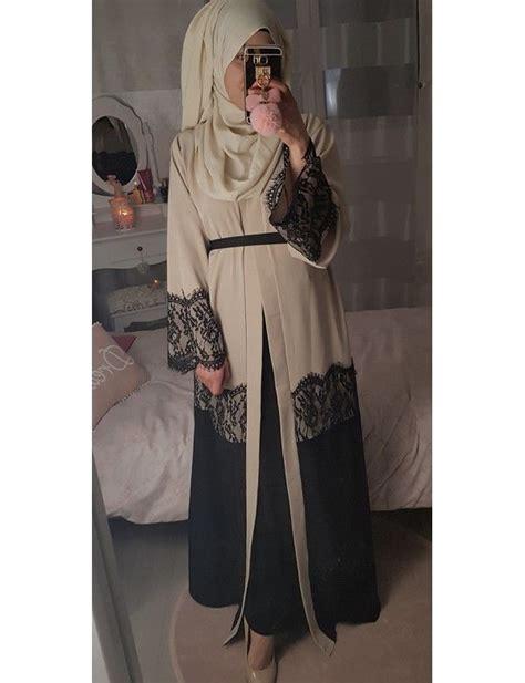 abaya kimono lace clothes hijab fashion abaya fashion