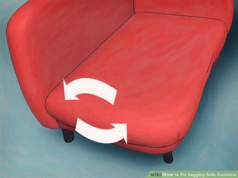 Fixing Sagging Cushions by 4 Ways To Fix Sagging Sofa Cushions Wikihow