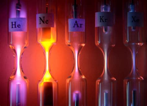 gases noble science bee light elements common beaker signs bulbs