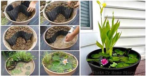 diy mini garden pond   container