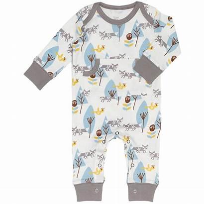 Pyjamas Footless Organic Cotton Pyjama Fox Romper