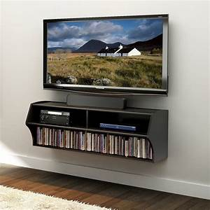 Wall Mount Cable Box Component Shelf For Under Tv