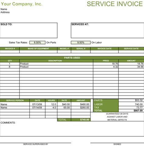 receipt template  services rendered printable receipt