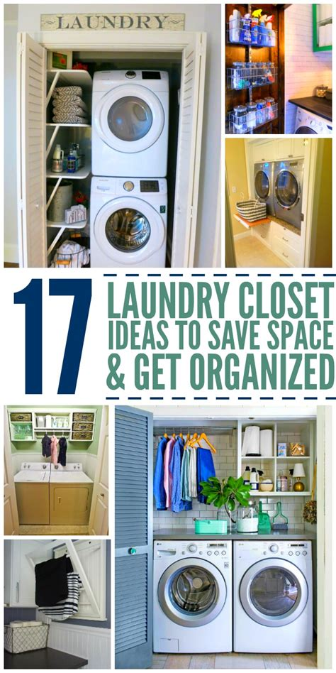 washer on top of dryer 15 laundry closet ideas to save space and get organized