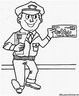Coloring Clipart Persone Berufe Helpers Carrier Mail Colorear Helper Mestieri Kolorowanki Cartero Poczta Carteros Preschool Disegno Colorare Kleurplaat Handwerk Coloraredisegni sketch template