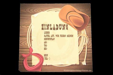 einladung cowboy geburtstag kindergeburtstag planende
