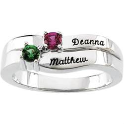 engraved stackable mothers rings personalized engraved 2 silver mothers ring