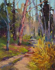 Spring Pastel Landscape Paintings