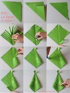 Sapin En Papier Plié : fabrique des sapins de no l en papier diy facile et ~ Melissatoandfro.com Idées de Décoration