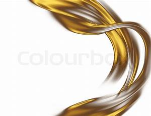 Abstract gold desin isolated on a white background | Stock ...