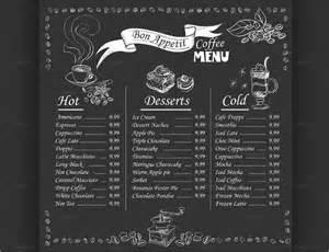 Chalkboard Coffee Menu Templates