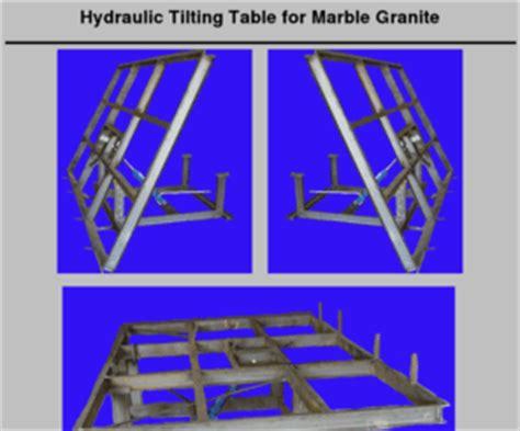 ezlay net tilting table hydraulic marble granite