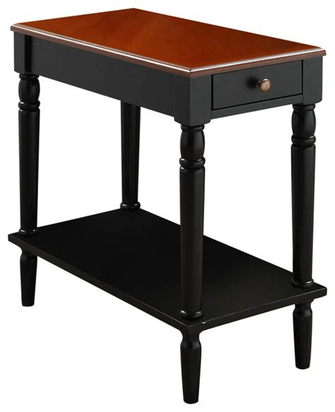 french country no tools chair side table black and cherry
