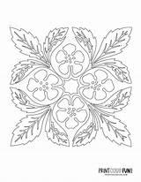 Hawaiian Quilt Stencil Applique Patterns Hibiscus sketch template