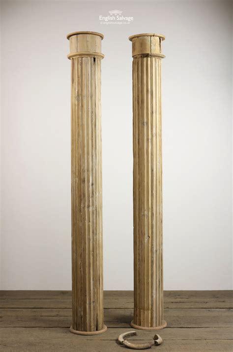 reclaimed fluted pine pillars columns