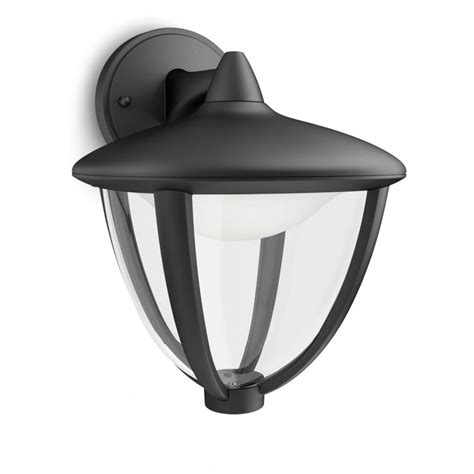 philips robin single light led outdoor wall fitting in