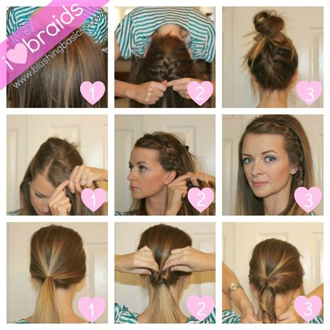 blushing basics braiding hairstyles tutorial
