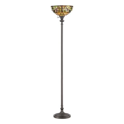 tiffany style torchiere floor ls floor standing l the tiffany style uplighter creates