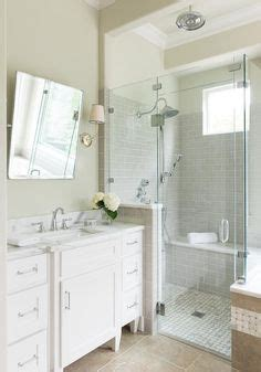 white subway tile with light grey grout   home: bathroom