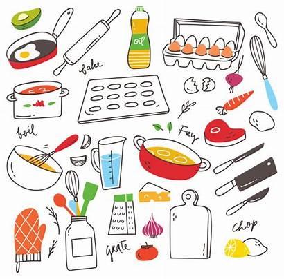 Cooking Doodle Utensil Vector Premium