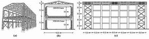 Industrial Building Shape And Dimensions  A  3d View  B