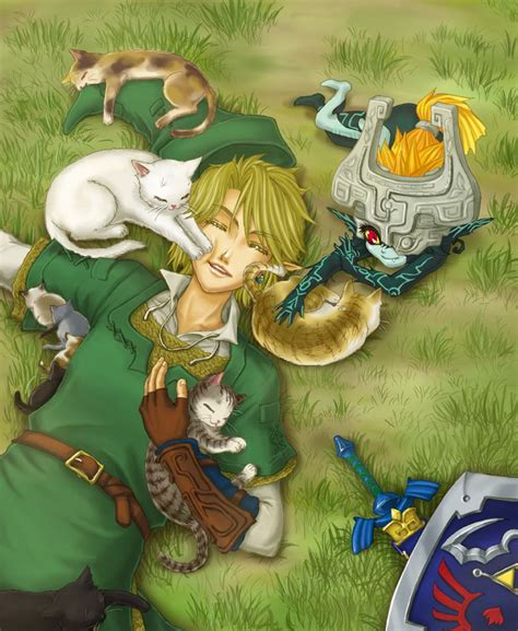 Link Midna And Cats The Legend Of Zelda Twilight