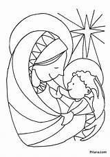 Jesus Coloring Mary Pages Christmas Children Christian Pitara Printable Mother Sheets Sheet Worksheets Craft Crafts Nativity Poetry Preschool Christ Wordpress sketch template