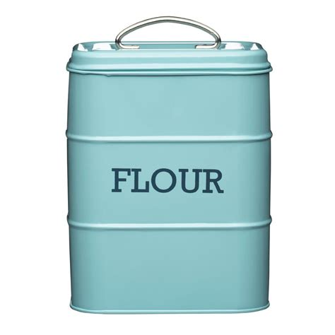 kitchen flour canisters living nostalgia flour canister kitchen storage jar containers pots pale blue ebay