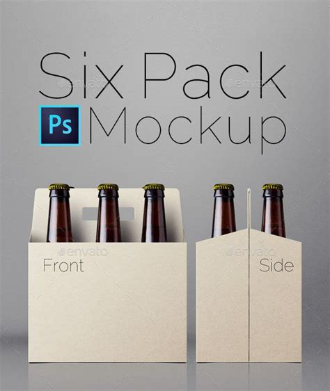 Bebida Ephotoshop Template Can Soda by Six Pack Mockup Empaques Cerveza Y Etiquetas