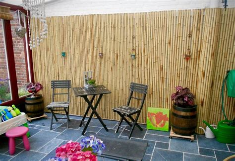 bamboo wall covering outdoor decor roni young