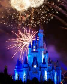 Disney World Castle Fireworks at Night