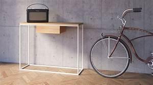 Konsolentisch Mit Schublade : konsolentisch skinny oak sl von take me home i holzdesignpur ~ Watch28wear.com Haus und Dekorationen