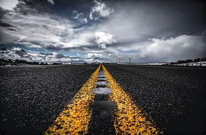 Road Asphalt Horizon Background Marking